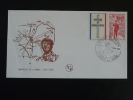 Lettre Commemorative Cover Bataille De L'Aisne De Gaulle Crecy Sur Serre 02 Aisne 1985 - Guerre Mondiale (Seconde)