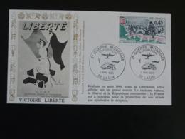 Lettre Commemorative Cover Affiche Victoire Liberté Expo 2ème Guerre Mondiale Laon 02 Aisne 1985 - Guerre Mondiale (Seconde)