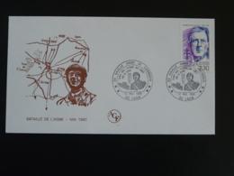 Lettre Commemorative Cover General De Gaulle Bataille De L'Aisne Laon 02 Aisne 1990 - De Gaulle (Général)