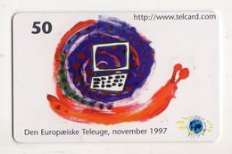 DANEMARK TELECARTE TELEKORT 50 KR TELEUGE Date 1999 - Denemarken