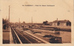 CPA CAMBRAI 59 - Pont Du Canal Cantimbré - Cambrai