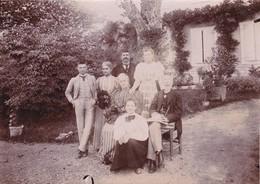Photographie Loire 42 Champdieu Château Vaugirard  Famille Charvet Dans Le Parc Jardin 1896 Ref 200615 - Photos