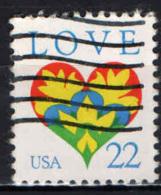 STATI UNITI - 1987 - LOVE - MESSAGGIO D'AMORE - USATO - Oblitérés