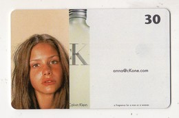DANEMARK TELECARTE TELEKORT CALVIN KLEIN PARFUM 30 KR Date 2002 - Parfum