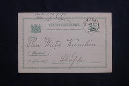 SUÈDE - Entier Postal De Uppsala Pour Skövde En 1890 - L 62066 - Ganzsachen