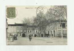 32 - NOGARO - Place Jeanne D'arc Animé Tambour De Ville Bon état - Nogaro