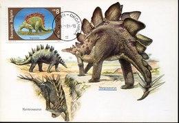 55052 Bulgaria, Maximum  1994  Prehistory  Stregosaurus, Prehistoric Animal,animal Préhistorique - Préhistoire