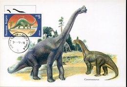 55053 Bulgaria, Maximum  1994  Prehistory  Brachiosaurus, Prehistoric Animal,animal Préhistorique - Préhistoire