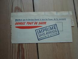 Imprimé Sans Adresse Affranchi En Numéraire. Ouvrez Tout De Suite - OMO - + Verso 29 Novembre 1952 Général LECLERC - Commemorative Labels