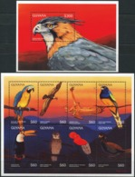 GUYANA 1996 Birds Of Prey Owl Owls Parrots Eagles Animals Fauna MNH - Adler & Greifvögel