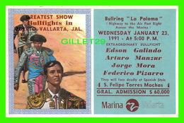 "CORRIDA - BULLRING "" LA PALOMA "" GREATEST SHOW BULLFIGHTS IN VALLARTA, JAL, 1991 - - Corridas"