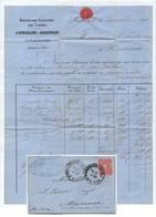 TABAC - TOBACCO - TABAK / 1878 STRASBOURG - ALSACE - FACTURE A ENTÊTE DE LA MANUFACTURE DE TABACS (ref 5289a) - Documents