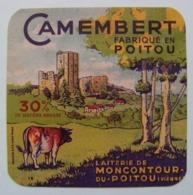 Etiquette Camembert - Le Moncontour - Fromagerie Du Dolmen à Moncontour 86 Poitou - Vienne  A Voir ! - Fromage