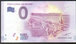 France - Billet Touristique 0 Euro 2018 N°002200 (UEEE002200/5000) - PONT-CANAL DE BRIARE, Palindrome - EURO