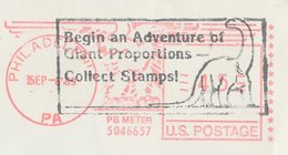 Meter Cover / Postmark USA 1989 Dinosaur - Collect Stamps - Preistoria