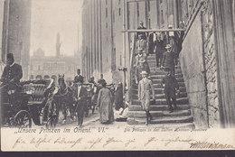 Deutsches Reich PPC Unsere Prinzen Im Orient VI. Die Prinzen In Der Sultan Hassan-Moschee 1908 FLENSBURG Simple Backside - Familles Royales