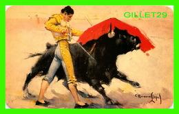 CORRIDA - BULLFIGHTS - PASE DE PECHO DE VELAZQUEZ - CHEST PAS BY VELAZQUEZ - AMMEX ASOCIADOS - - Corridas