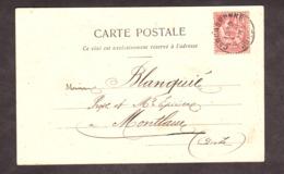 """CP - 1903 - Carcassonne Pour Montlaur (nouvellement Val-de-Dagne) - Aude - """"Le Palais De Justice"""" - TP N° 124 - Storia Postale"""