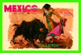 CORRIDA - BULLFIGHTS - UNA GAONERA - PUB. BY MEXICANA AIRLINES, PAN AMERICAN - - Corridas