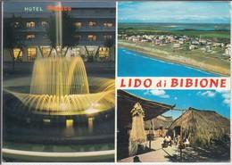 BIBIONE - Notturno Hotel Monaco , Dall' Aereo, Casoni Dei Pescatori,  Viaggiata  1968 Nice Stamp - Italia