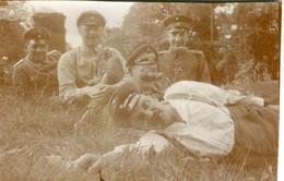 PHOTO ALLEMANDE - SOLDATS  AUREPOS A FAILLOUEL PRES DE CREPIGNY  - CHAUNY - AISNE - GUERRE 1914 1918 - 1914-18