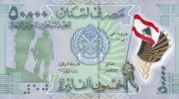 LEBANON P. 98 50000 L 2015 UNC - Libano