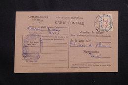 FRANCE - Carte De Ravitaillement De Fontenay Le Comte En 1946  - L 62080 - Marcophilie (Lettres)