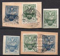 POLONIA 1921 Emissione Locale Insorti Alta Slesia Gorny Slask - Lotto Nuovi MNH /** E Timbrati Su Ritagli. - Collections (without Album)
