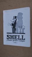 Pub  Huile Auto Shell,illustré Par René Vincent,avec Les Voeux De - Advertising