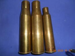 2 Douilles De 37 Et Unede 25mm - Armas De Colección