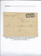 2 éme échelon Local Avec Chiffre-taxe Et Rebuts (voir Description) - 1859-1955 Covers & Documents