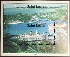 St Lucia 1991 Cruise Ships Minisheet MNH - St.Lucia (1979-...)