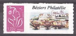 """France - 2005 - Personnalisé N° 3802C - Neuf ** - Grande Vignette """"Béziers Philatélie"""" - Lamouche 1,22 - France"""