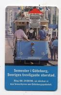 SUEDE TELECARTE 100U TRAMWAY GOTEBORG Date 1993 - Zweden
