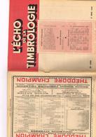 L'écho De La Timbrologie N°1144 Etude Information Nouvelle émission Annonces Journée Timbre Paris Expo Centenaire Timbre - Français (àpd. 1941)