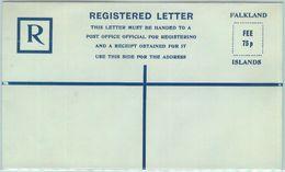 84375 - FALKLAND - Postal History - Postal Stationery REGISTERED LETTER - Islas Malvinas