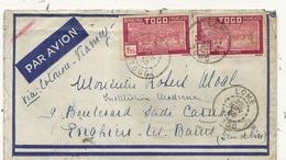 LETTRE PAR AVION . DE LOME VIA COTONOU POUR FRANCE - Togo (1914-1960)