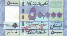 LEBANON P. 94a 50000 L 2011 UNC - Libano