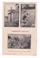 Rare CPA  Campagne 1914-1915, Cimetière Militaire De Saint-Jean-d'Ormont, Vosges - Oorlog 1914-18