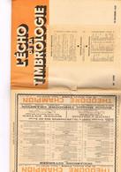 Echo De La Timbrologie N1140 Etude Information Nouvelle émission Annonce Catalogue France Colonie Relation Franco-Italie - Français (àpd. 1941)