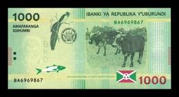 Burundi 1000 Francs / Amafaranga 2015 Pick 51 SC UNC - Burundi