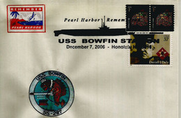 Remember Pearl Harbour ! USS Bowfin Submarine Museum And Park In Pearl Harbor, Hawaii.Special Cover Honolulu - Seconda Guerra Mondiale