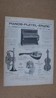 Pub Instruments De Musique Pianos-pleyel-érard - Advertising