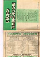 Echo De La Timbrologie N1138 Etude Information Nouvelle émission Annonce Expo Philatélique Bâle Imbroglio Allemand March - Français (àpd. 1941)