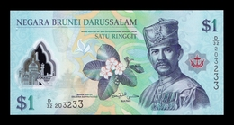 Brunei 1 Ringgit 2013 Pick 35b Polymer SC UNC - Brunei