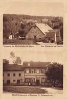 CPA ADAMSWILLER 67 - Gare Vue Générale Et Moulin - Hôtel Restaurant Et Pension G. Schwarzbach - Sonstige Gemeinden