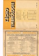 L'Echo De La Timbrologie N°1137 Etude Information Nouvelle émission Annonce Sarre Marché Manifestations Nouveautés... - Français (àpd. 1941)