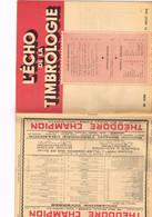 L'Echo De La Timbrologie N°1136 Etude Information Nouvelle émission Annonce Marché Surcharge Cors De Poste Bizone Occupa - Français (àpd. 1941)