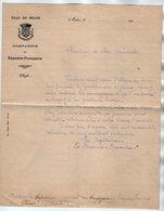VP17.152 - 190? - Lettre De La Compagnie De Sapeurs - Pompiers De MELUN Capitaine E.BERNAD - RENAUT ? Pour PRIVAS - Firemen