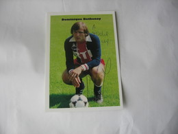 Football -  Autographe - Carte Signée De Dominique Bathenay - Autographes